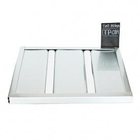 Реечный потолок Бард ППР-084 серебро металлик-хром комплект 100х150 см