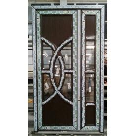 Двери входные штульповые WDS 7 серия с гнутыми импостами 1200х2050 мм