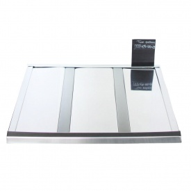 Рейкова стеля Бард ППР-КФ-100+25 хром-срібло металік комплект 100x100 см