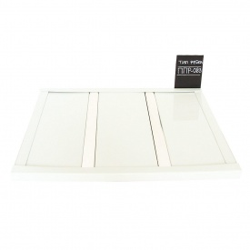Рейкова стеля Бард ППР-083 білий глянець + хром комплект 100x100 см