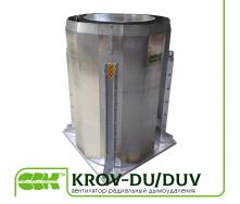 Вентилятор крышный радиальный дымоудаления KROV-DU/DUV