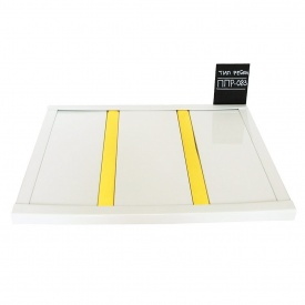 Рейкова стеля Бард ППР-083 білий глянець-золото комплект 200x200 см