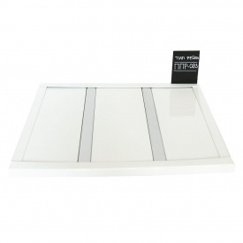 Реечный потолок Бард ППР-083 белый глянец-серебро металлик комплект 200x200 см