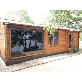 Деревянный дом из профилированного бруса 7,1х6,1м, площадью 43,3м кв