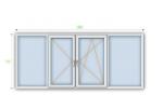 Металопластикове вікно Steko R600 з мультифункційним склопакетом 1300х1400 мм