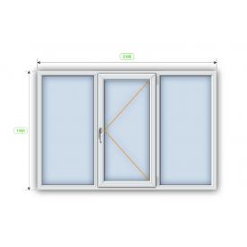 Металлопластиковое окно Steko R700 энергосберегающее 2100х1400 мм