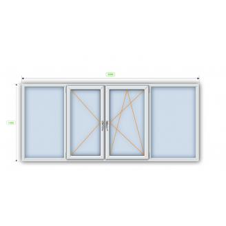 Металлопластиковое окно Steko R600 с мультифункциональным стеклопакетом 1300х1400 мм