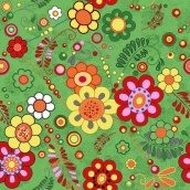 Ковровая дорожка Цветы 40 зеленая на войлочной основе 6 мм