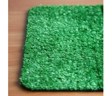 Искусственное покрытие трава для газона на улицу зеленая на резиновой основе 18 мм на отрез