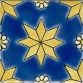 Плитка настенная Doremail Восточная Estrella Bleu майолика 10х10х0,8 см (B00670T11607)