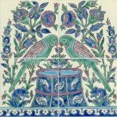 Панно Doremail Восточная Samarkand майолика 40х40х0,8 см (F00130T10110)