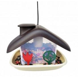 Кормушка для птичек Domek 21x15x16,5 см коричневая