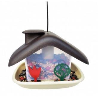 Кормушка для птиц Domek 21x15x16,5 см коричневая