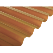 Полікарбонат монолітний BorreX Трапеція 0,8 мм 1050x2000 мм бронзовий (20180518)