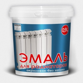 Эмаль радиаторная Ispolin белая 0,9 л