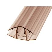 HCP-профиль крышка+база 8-10 мм Berolux бронзовый 6 м (20180252)