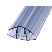 HCP-профиль крышка+база 8-10 мм Berolux прозрачный 6 м (20180248)
