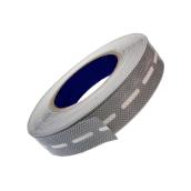 Торцевая лента перфорированная 25 мм Berolux серый 25 м (20180201)