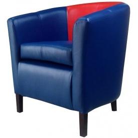 М'яке крісло Richman Бафі 800х650х650 мм кожзам синій