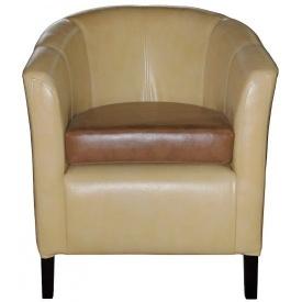 М'яке крісло Richman Бафі 800х650х650 мм кожзам сірий