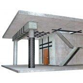 Усиление бетонных конструкций композитными материалами и методом торкретирования