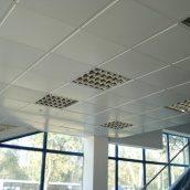 Металлическая кассета подвесного потолка 600х600 мм белая матовая