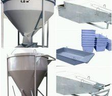 Бункера для бетона и раствора. Особенности, характеристики и отличительные особенности.