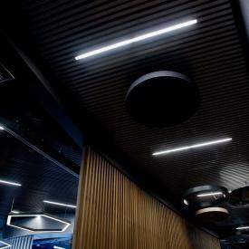Реечный подвесной потолок кубообразного дизайна Rail Star алюминиевый черный матовый