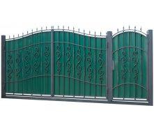 Ковані ворота та хвіртка ВД-14 3450x2150 мм