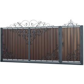 Кованые ворота и калитка В-19 3450x1900 мм