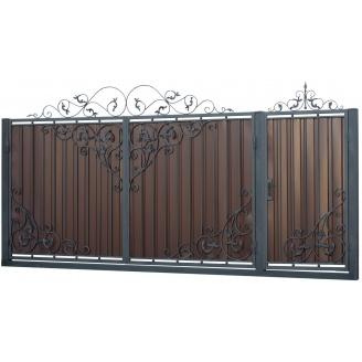 Ковані ворота та хвіртка В-19 3450x1900 мм