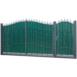 Кованые ворота и калитка ВД-14 3450x2150 мм