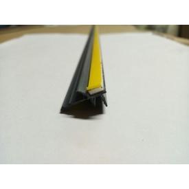 Профиль оконный примыкания серый графит с манжетой 6 мм без сетки