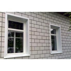 Наружная отделка откоса окна