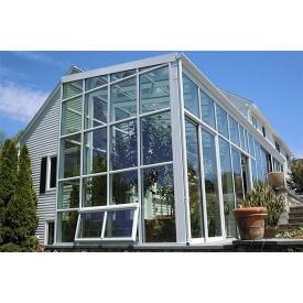 Зимний сад из оконных стеклопакетов Steko