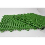 Напольное спортивное покрытие решетчатой структуры Экотек спорт зеленый