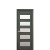 Дверное полотно BRONX со стеклом сатин