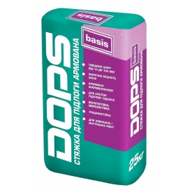 Стяжка для підлоги армована DOPS basis Поліпласт 25 кг