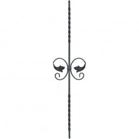 Кованая стойка прямая 950х205 мм (21.125)