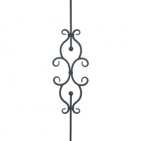 Кованая стойка прямая 950х245 мм (21.163)
