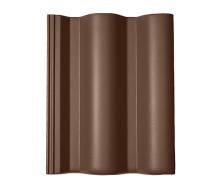Цементно-песчаная черепица BRAAS Таунас Lumino 420х330 мм коричневый