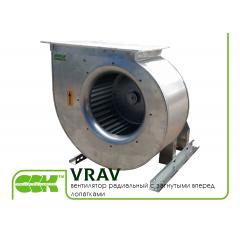 VRAV вентиляторы радиальные с загнутыми вперед лопатками