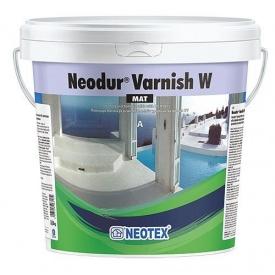 Двухкомпонентный лак на водной основе полиуретановый прозрачный Neodur Varnish Mat W