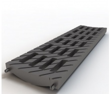 Решетка Ecoteck MEDIUM 100 В-125 136х500х20 мм черная