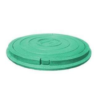 Люк каналізаційний полімерпіщаний з замком легкий 780х80 мм зелений