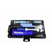 Набор для пайки ZD-972E с паяльником на батарейках + 7 инструментов в кейсе