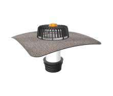 Ремонтна воронка для покрівель без теплоізоляції з привареним бітумним фартухом