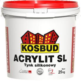 Фасадная силиконовая штукатурка Kosbud Acrylit SL барашек 1,5 мм 25 кг