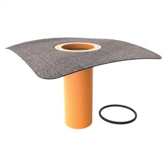 Надставный элемент для кровельных воронок с приваренным битумным фартуком