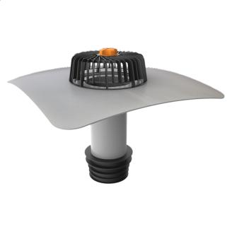 Ремонтна воронка вертикальна з привареним фартухом з ПВХ-мембрани